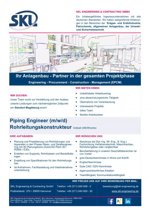 Piping Engineer 2019-NEU